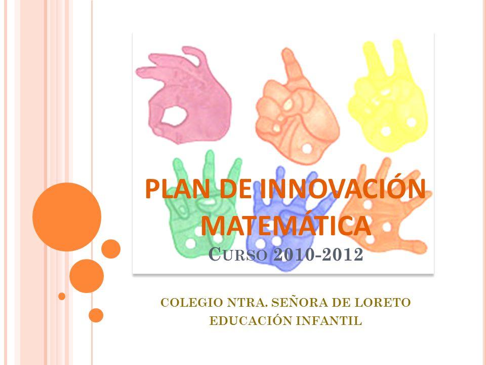 PLAN DE INNOVACIÓN MATEMÁTICA C URSO 2010-2012 COLEGIO NTRA. SEÑORA DE LORETO EDUCACIÓN INFANTIL
