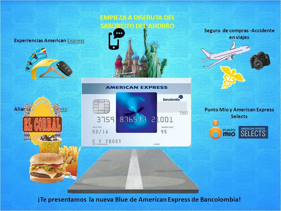 ¡Te presentamos la nueva Blue de American Express de Bancolombia.