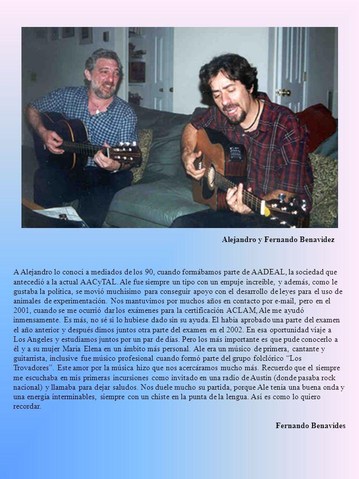 A Alejandro lo conocí a mediados de los 90, cuando formábamos parte de AADEAL, la sociedad que antecedió a la actual AACyTAL. Ale fue siempre un tipo