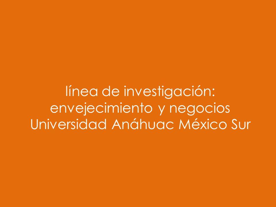 línea de investigación: envejecimiento y negocios Universidad Anáhuac México Sur