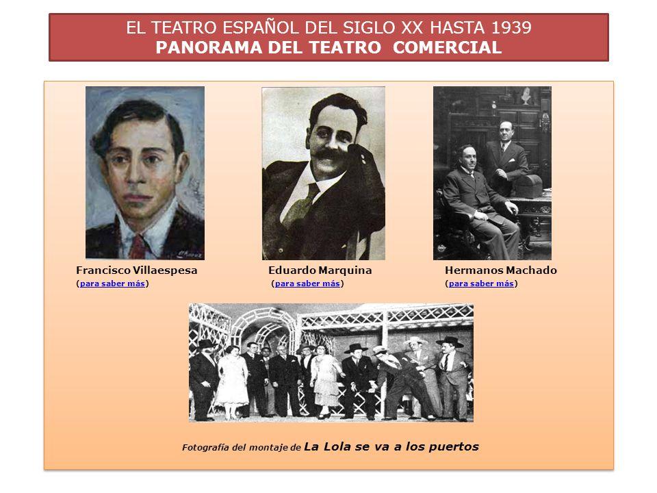 EL TEATRO ESPAÑOL DEL SIGLO XX HASTA 1939 PANORAMA DEL TEATRO COMERCIAL C.