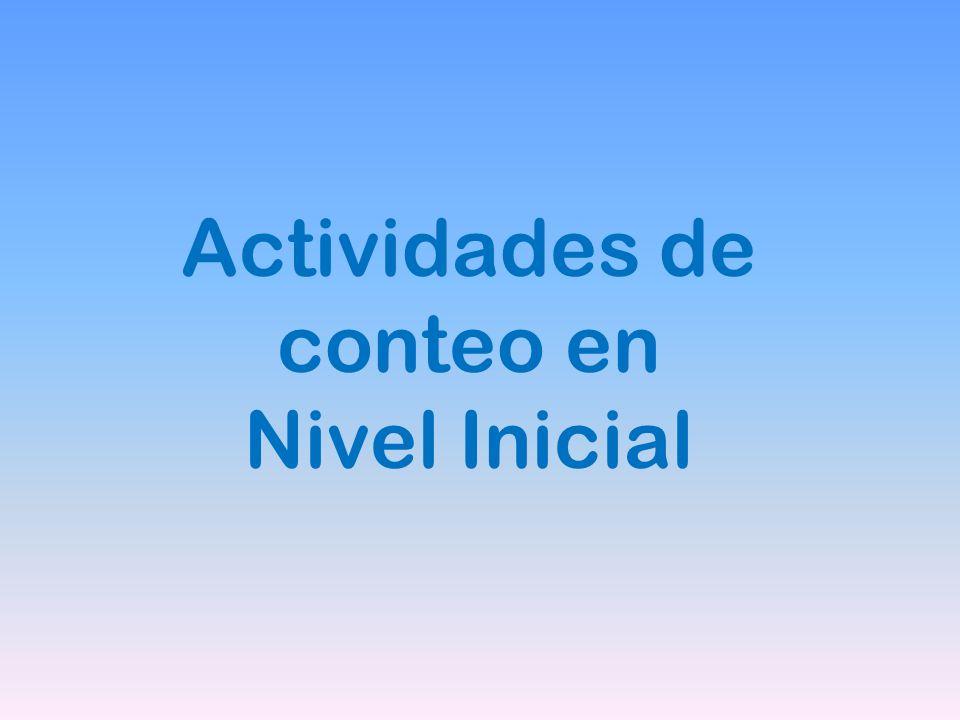 Actividades de conteo en Nivel Inicial