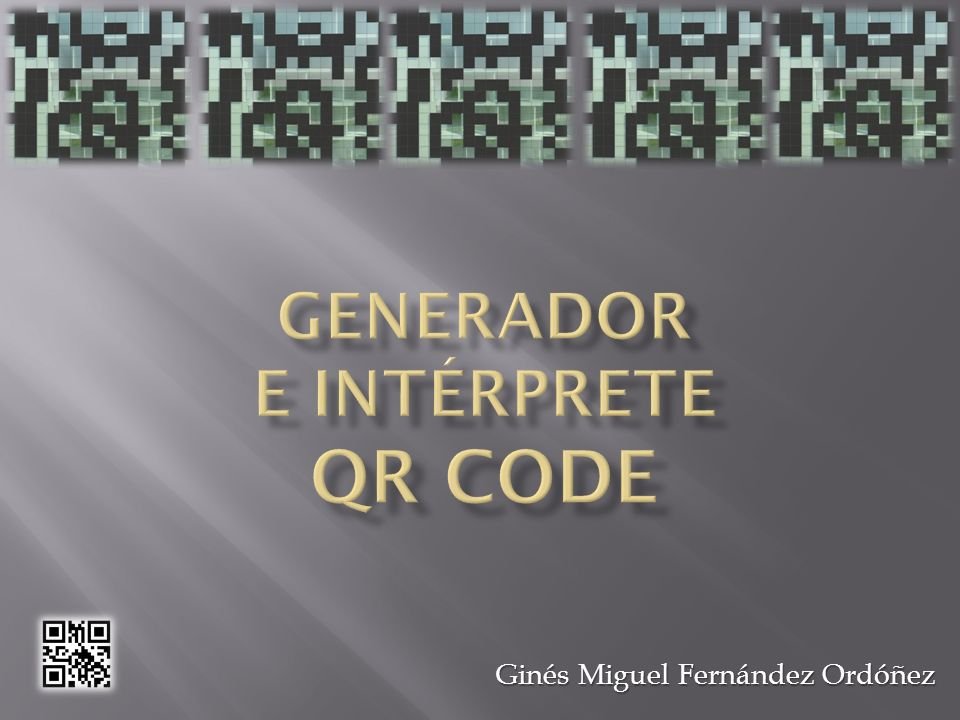 4 modos de codificación: Numéricos: 0, 1, 2, 3, 4, 5, 6, 7, 8, 9 Numéricos: 0, 1, 2, 3, 4, 5, 6, 7, 8, 9 Datos alfanuméricos (0-9, A-Z y otros 9 caracteres: espacio, $, %, *, +, -,., /, :) Datos alfanuméricos (0-9, A-Z y otros 9 caracteres: espacio, $, %, *, +, -,., /, :) Bytes (por defecto ISO/IEC 8859-1) Bytes (por defecto ISO/IEC 8859-1) Caracteres Kanji, compactados en 13 bits Caracteres Kanji, compactados en 13 bits