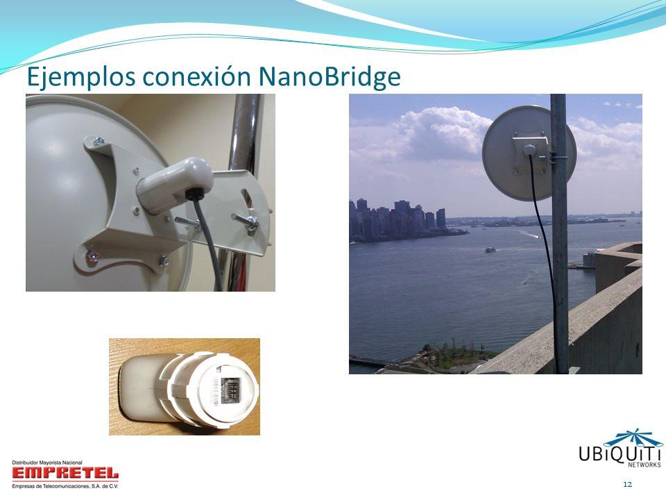 Ejemplos conexión NanoBridge 12