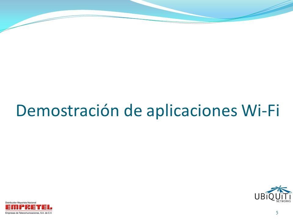 Demostración de aplicaciones Wi-Fi 5