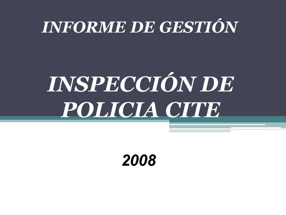 INFORME DE GESTIÓN INSPECCIÓN DE POLICIA CITE 2008
