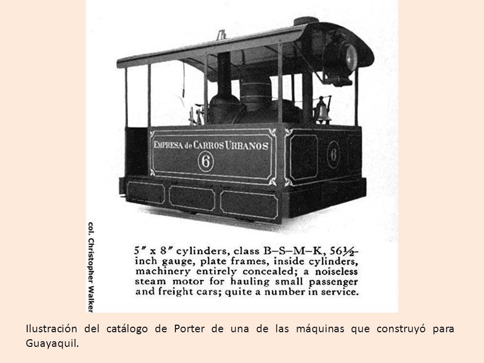 Ilustración del catálogo de Porter de una de las máquinas que construyó para Guayaquil.