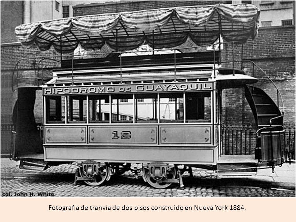 Fotografía de tranvía eléctrico de Guayaquil (ELFE).