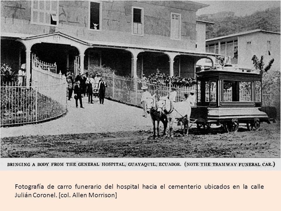 Entroncamiento de la calle Vélez (tranvía eléctrico) y la calle Chimborazo (la locomotora).