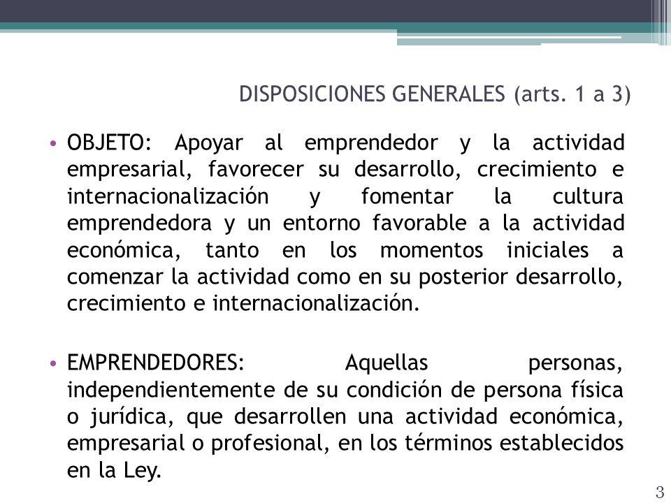 APOYO A LA INICIATIVA EMPRENDEDORA (arts.