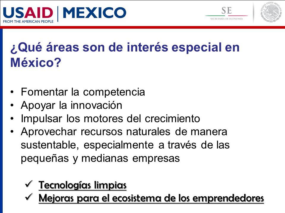¿Qué áreas son de interés especial en México.