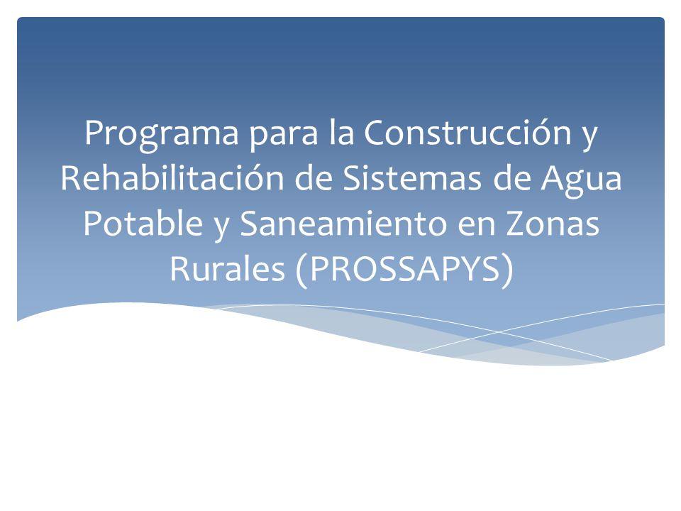 Objetivo Específico Apoyar el incremento de la cobertura de los servicios de agua potable y saneamiento en comunidades rurales, mediante la construcción y ampliación de su infraestructura, con la participación comunitaria organizada, a fin de inducir la sostenibilidad de los servicios instalados.