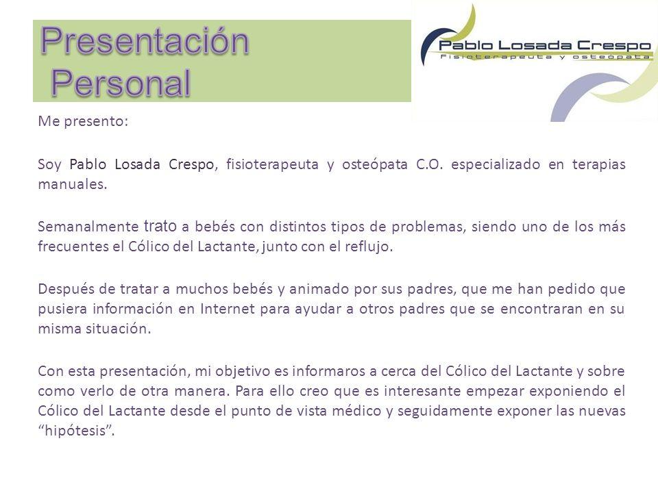 Me presento: Soy Pablo Losada Crespo, fisioterapeuta y osteópata C.O.