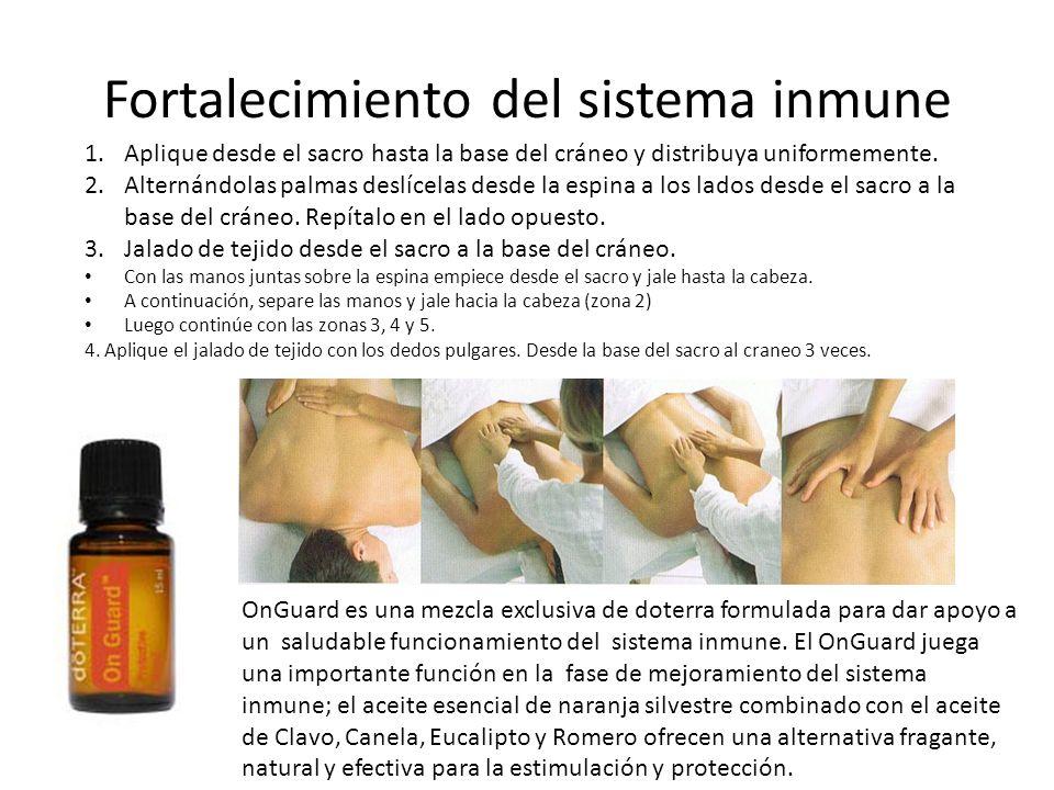 Fortalecimiento del sistema inmune OnGuard es una mezcla exclusiva de doterra formulada para dar apoyo a un saludable funcionamiento del sistema inmun