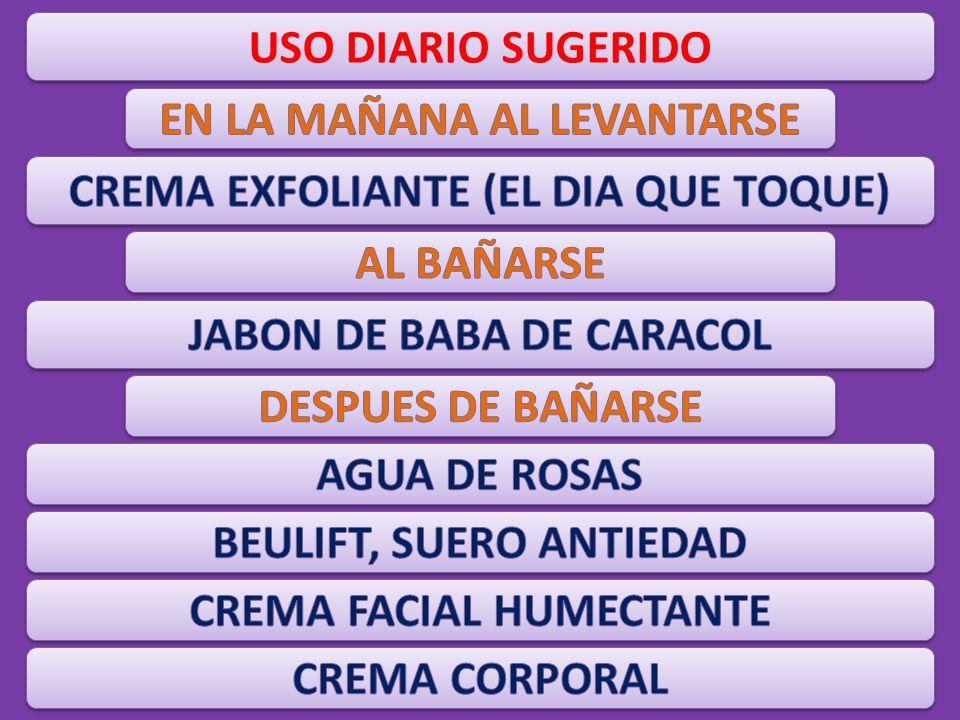 USO DIARIO SUGERIDO