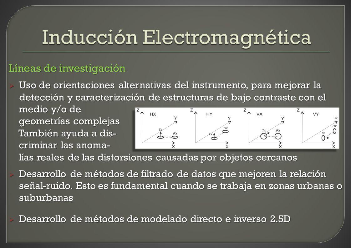 Líneas de investigación Uso de orientaciones alternativas del instrumento, para mejorar la detección y caracterización de estructuras de bajo contrast
