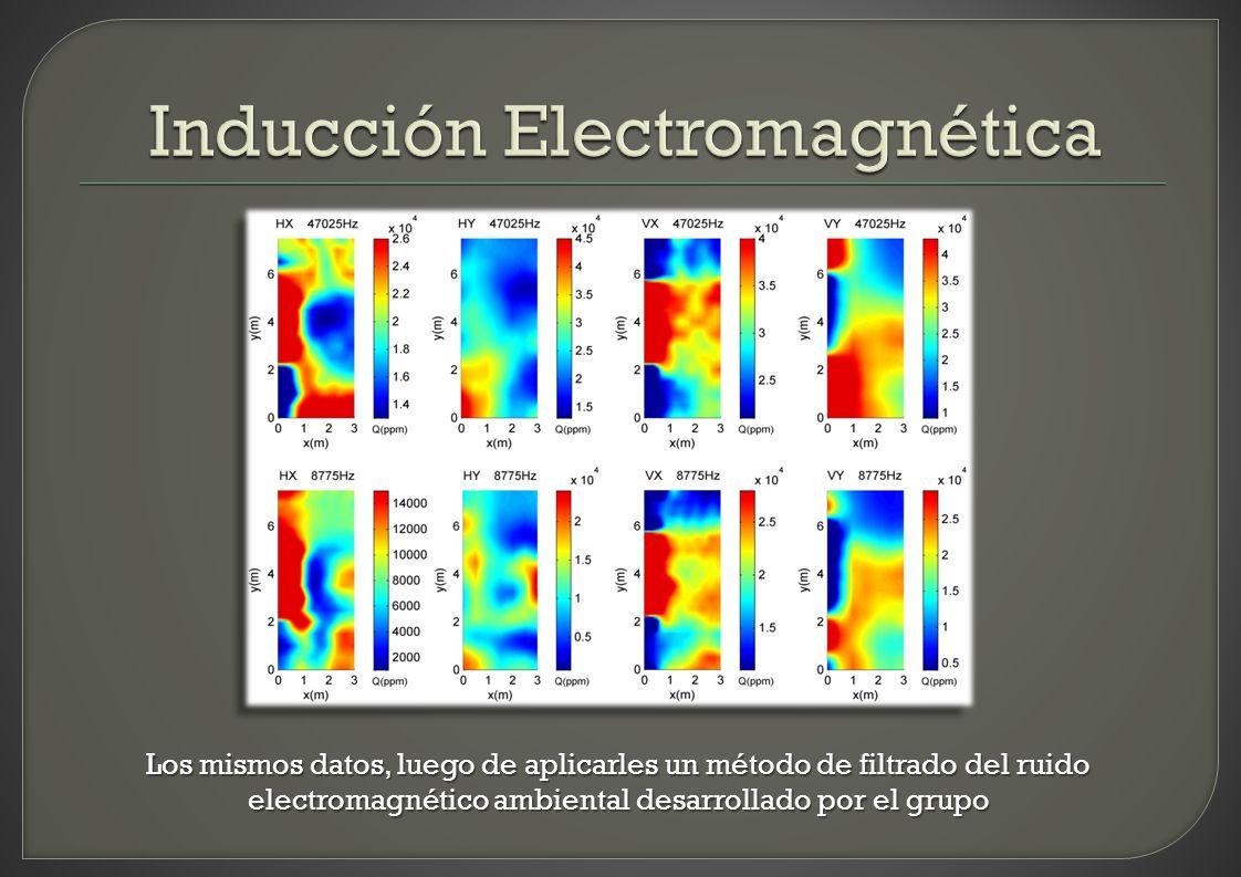 Los mismos datos, luego de aplicarles un método de filtrado del ruido electromagnético ambiental desarrollado por el grupo