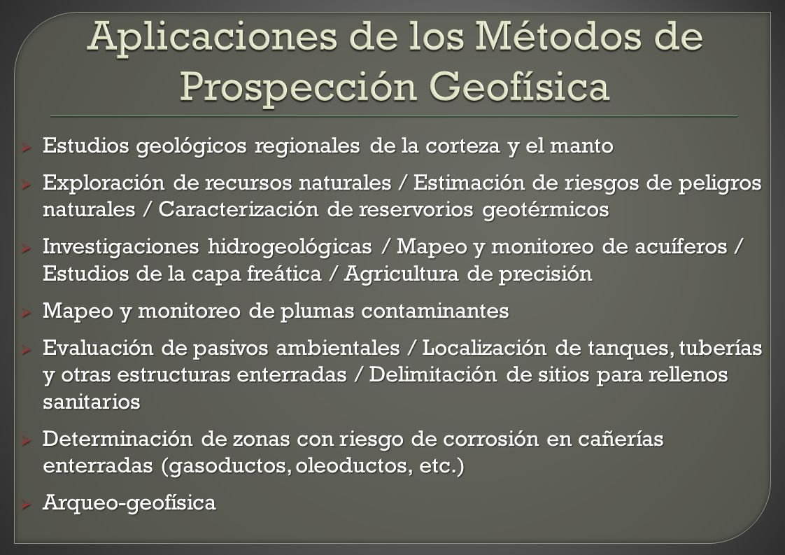 Estudios geológicos regionales de la corteza y el manto Estudios geológicos regionales de la corteza y el manto Exploración de recursos naturales / Es