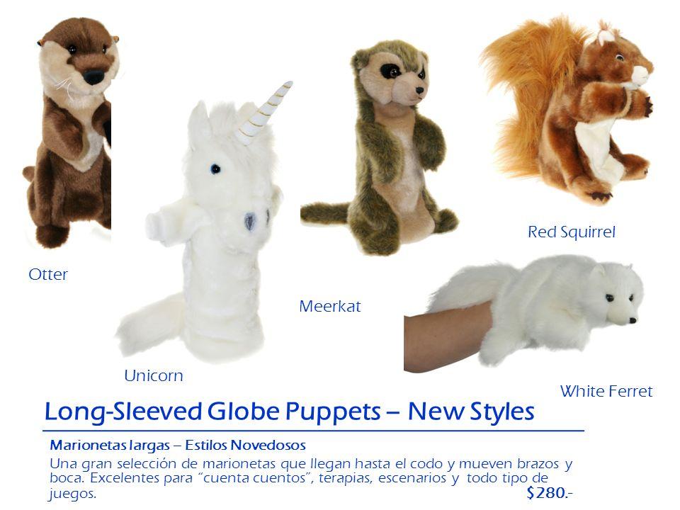 Otter PigRed Squirrel White Ferret Meerkat Unicorn Long-Sleeved Globe Puppets – New Styles Marionetas largas – Estilos Novedosos Una gran selección de
