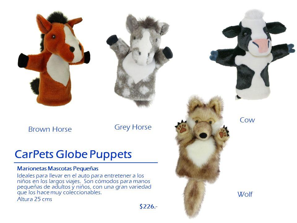 Brown Horse Wolf CarPets Globe Puppets Cow Grey Horse Marionetas Mascotas Pequeñas Ideales para llevar en el auto para entretener a los niños en los l