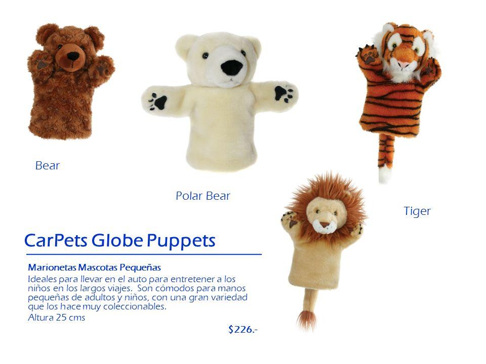 Polar Bear Bear CarPets Globe Puppets Tiger Lion Marionetas Mascotas Pequeñas Ideales para llevar en el auto para entretener a los niños en los largos