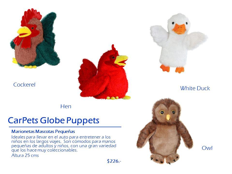 Hen Cockerel CarPets Globe Puppets White Duck Owl Marionetas Mascotas Pequeñas Ideales para llevar en el auto para entretener a los niños en los largo