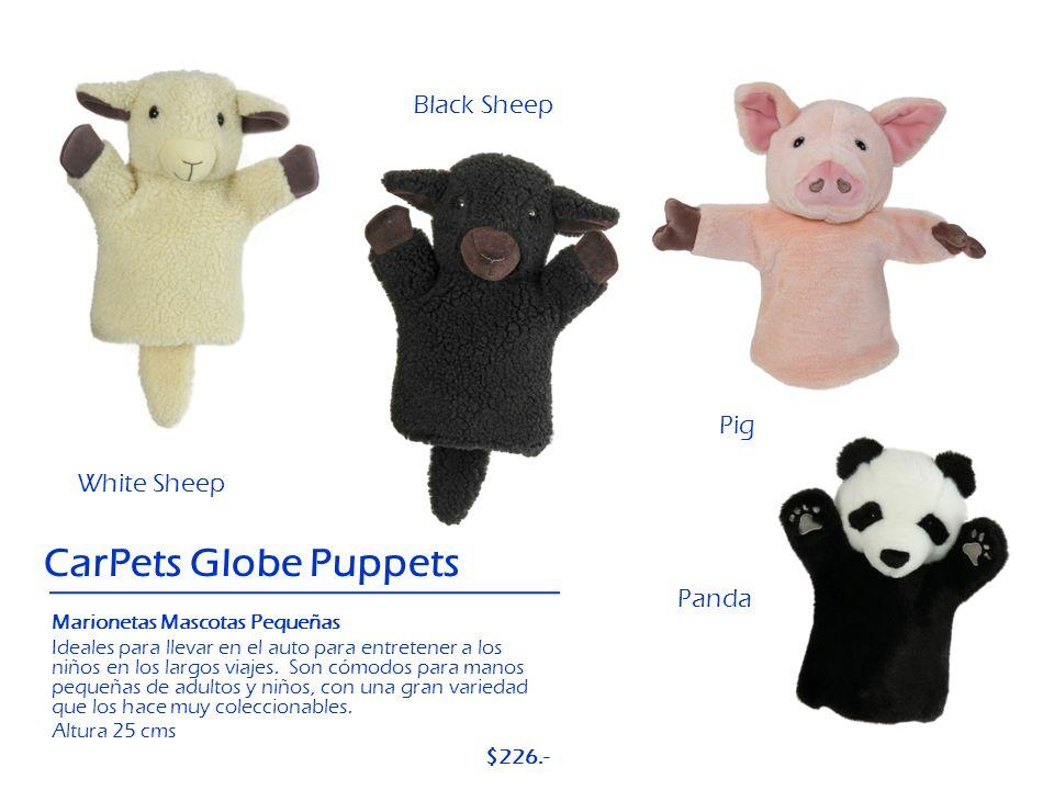 Pig Panda CarPets Globe Puppets Black Sheep White Sheep Marionetas Mascotas Pequeñas Ideales para llevar en el auto para entretener a los niños en los