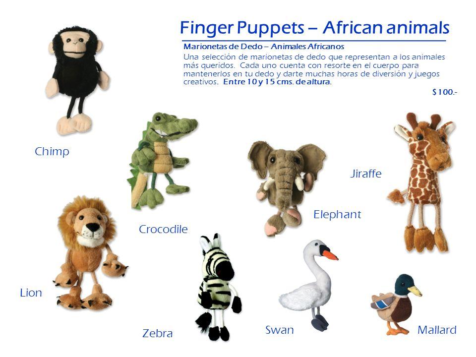 Zebra Finger Puppets – African animals Marionetas de Dedo – Animales Africanos Una selección de marionetas de dedo que representan a los animales más