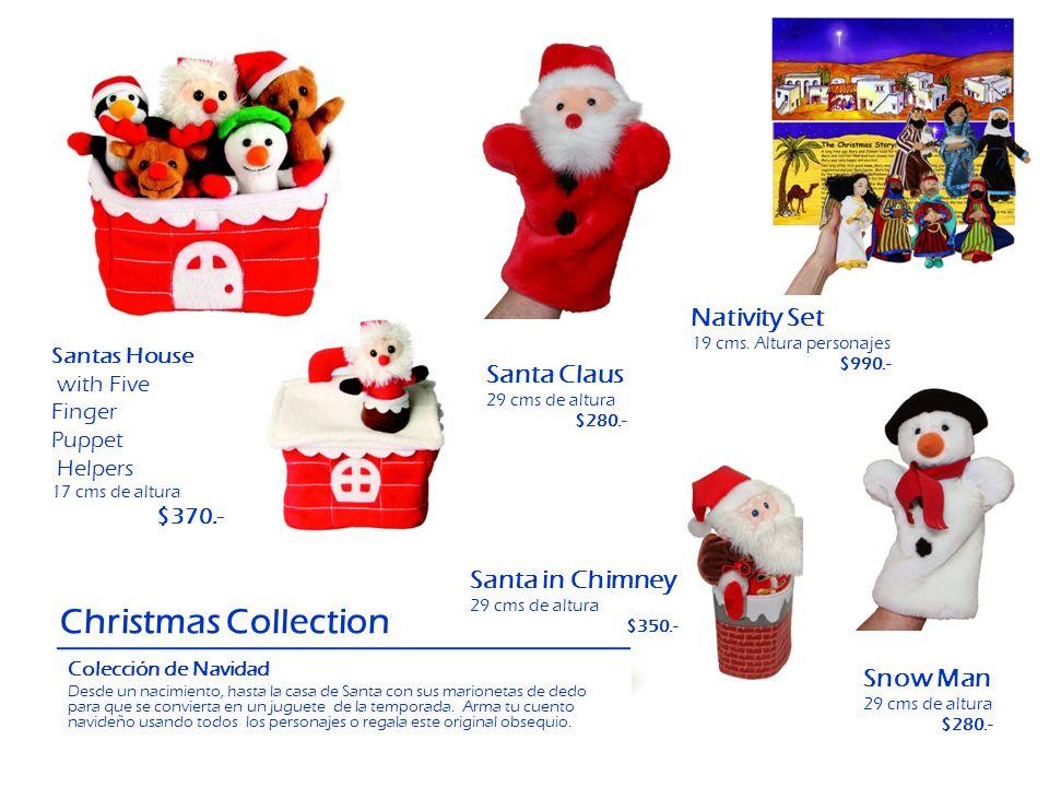 Christmas Collection Colección de Navidad Desde un nacimiento, hasta la casa de Santa con sus marionetas de dedo para que se convierta en un juguete d