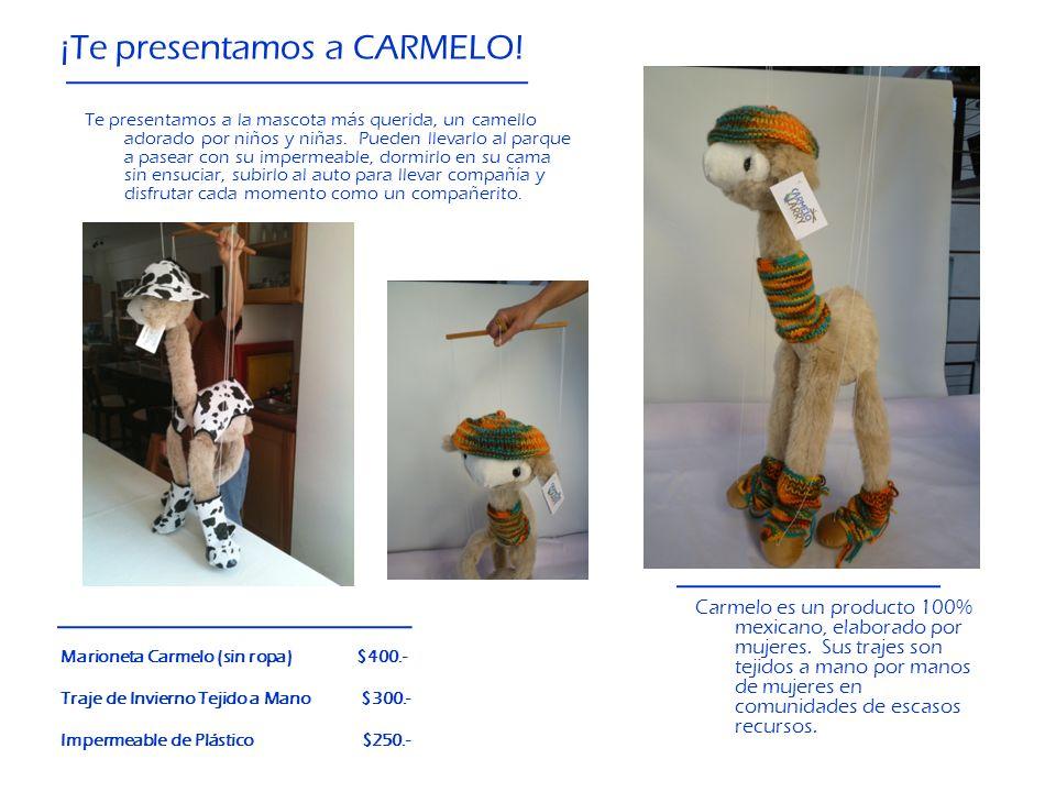 ¡Te presentamos a CARMELO! Te presentamos a la mascota más querida, un camello adorado por niños y niñas. Pueden llevarlo al parque a pasear con su im
