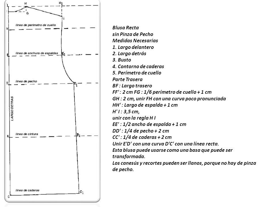 Manga para la blusa recta Medidas necesarias 1.Largo total del brazo 2.