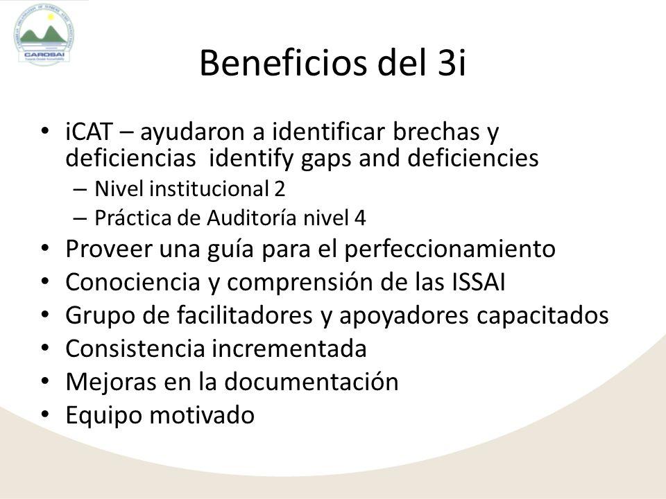 Limitaciones de tiempo/ Prioridades que compiten entre sí – Llevar a cabo capacitación – Completar iCAT – Desarrollar estrategias de implementación y planes de acción Entendimiento y aplicabilidad de las ISSAI Interpretación de las ISSAIs en los iCAT Desafíos (Fase de Palnificación)