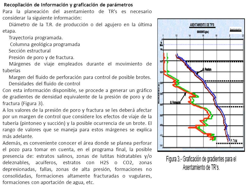 Recopilación de Información y graficación de parámetros Para la planeación del asentamiento de TRs es necesario considerar la siguiente información: D