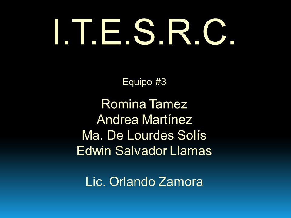 I.T.E.S.R.C.Equipo #3 Romina Tamez Andrea Martínez Ma.