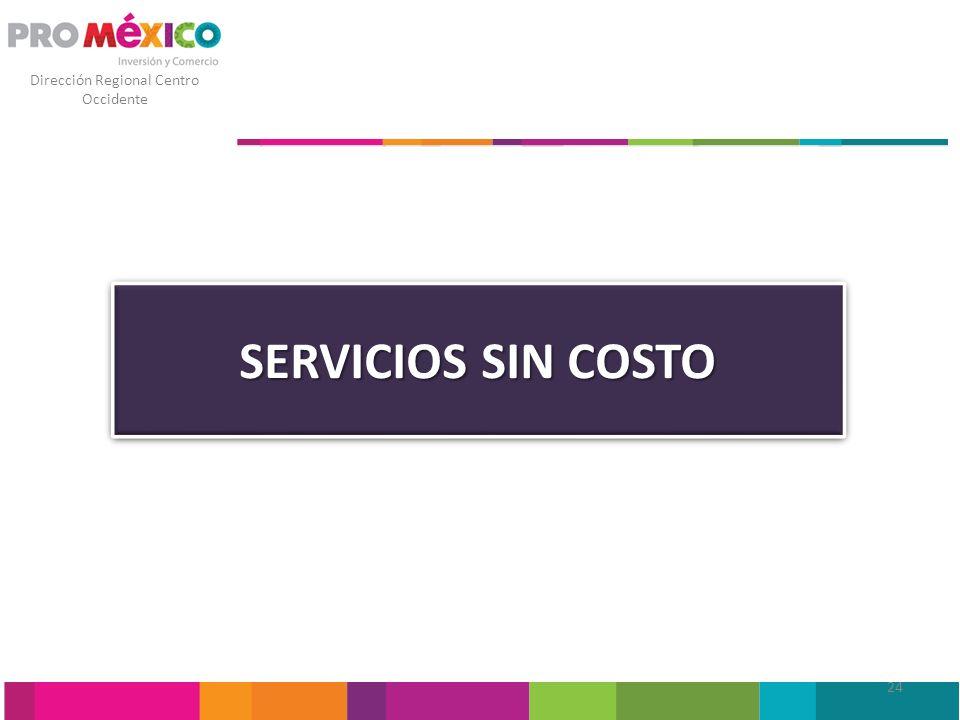 Dirección Regional Centro Occidente SERVICIOS SIN COSTO 24