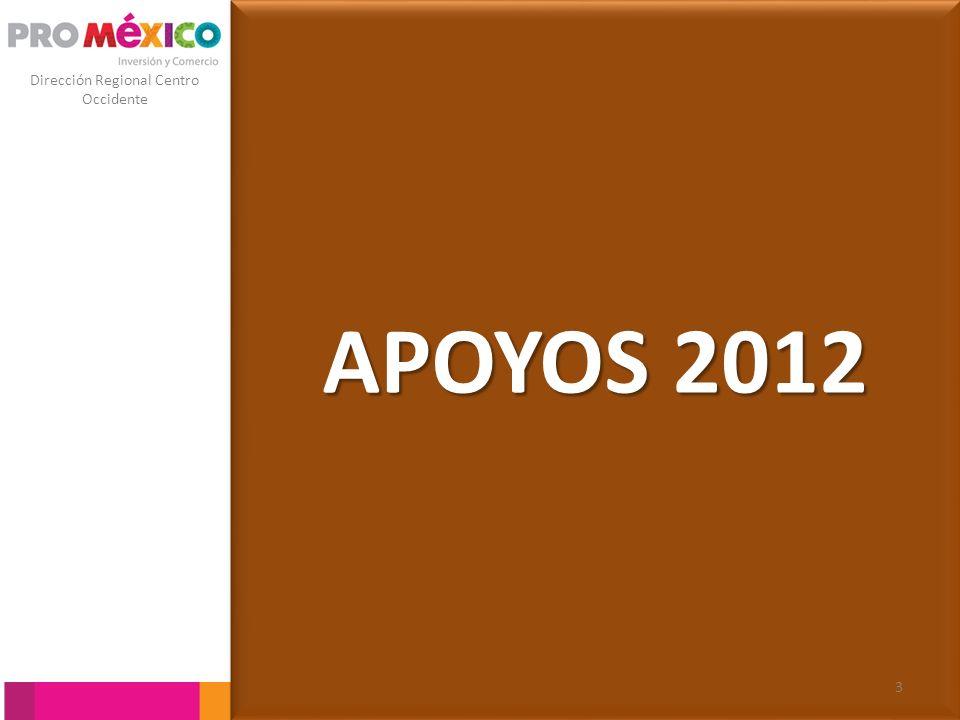 Dirección Regional Centro Occidente Apoyos de aumento a la competitividad ESTUDIOS DE MERCADO Y PLANES DE NEGOCIOS PARA LA EXPORTACIÓN O INTERNACIONALIZACION.