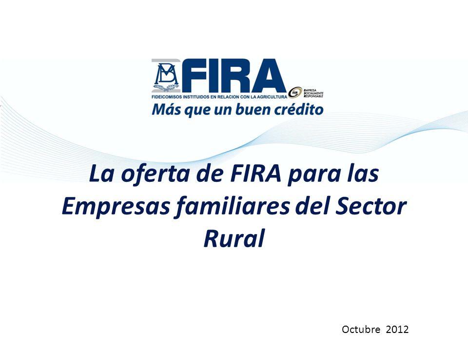 La oferta de FIRA para las Empresas familiares del Sector Rural Octubre 2012