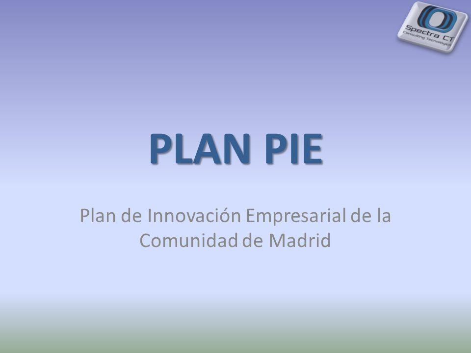 PLAN PIE Plan de Innovación Empresarial de la Comunidad de Madrid