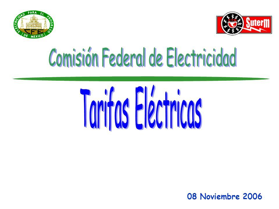 Tarifas Horarias Existentes TARIFA HMTARIFA HORARIA PARA SERVICIO GENERAL EN MEDIA TENSION CON DEMANDA DE 100 KW O MAS.