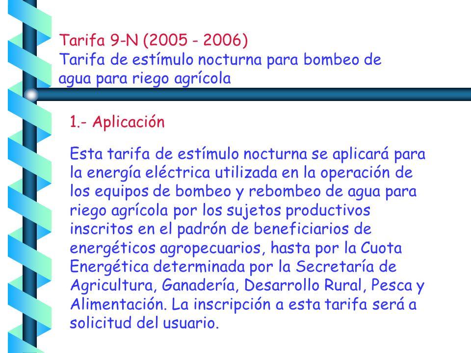 T A R I F A 9 CU PERIODO DE CONSUMO DATOS-FACTURACION F-DESDEF-HASTA DIAS FACTURADOS CONSUMO9,700 05-Ene-0605-Feb-06 31 M.B.T.0.02 FP 98.5 KWH TARIFA