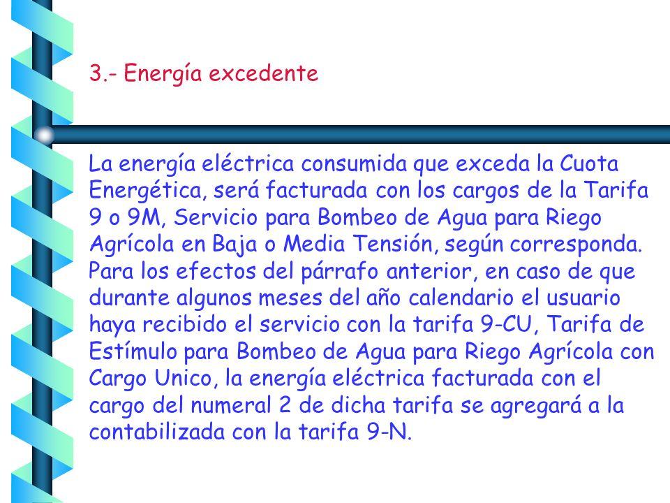 Cuotas aplicables.- Se aplicarán para 2006 los siguientes cargos por energía consumida, hasta por la cuota energética Año2006 Cargo por kilowatt-hora
