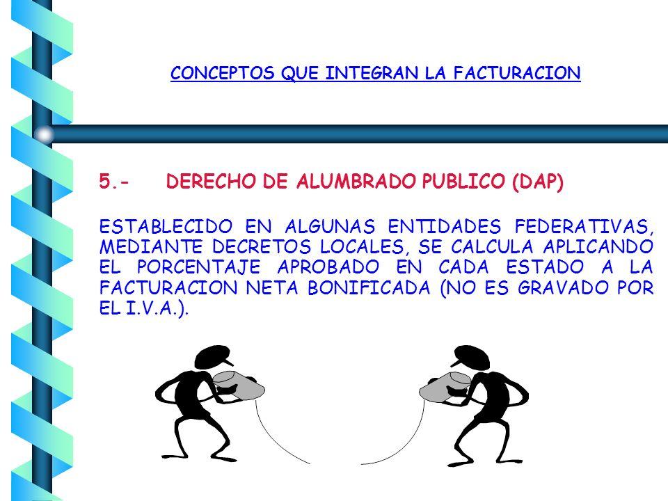 CONCEPTOS QUE INTEGRAN LA FACTURACION 4.-FACTURACION NETA BONIFICADA EN EL CASO DE LA APLICACION DE LAS TARIFAS INTERRUMPIBLES; LA BONIFICACION O PEN