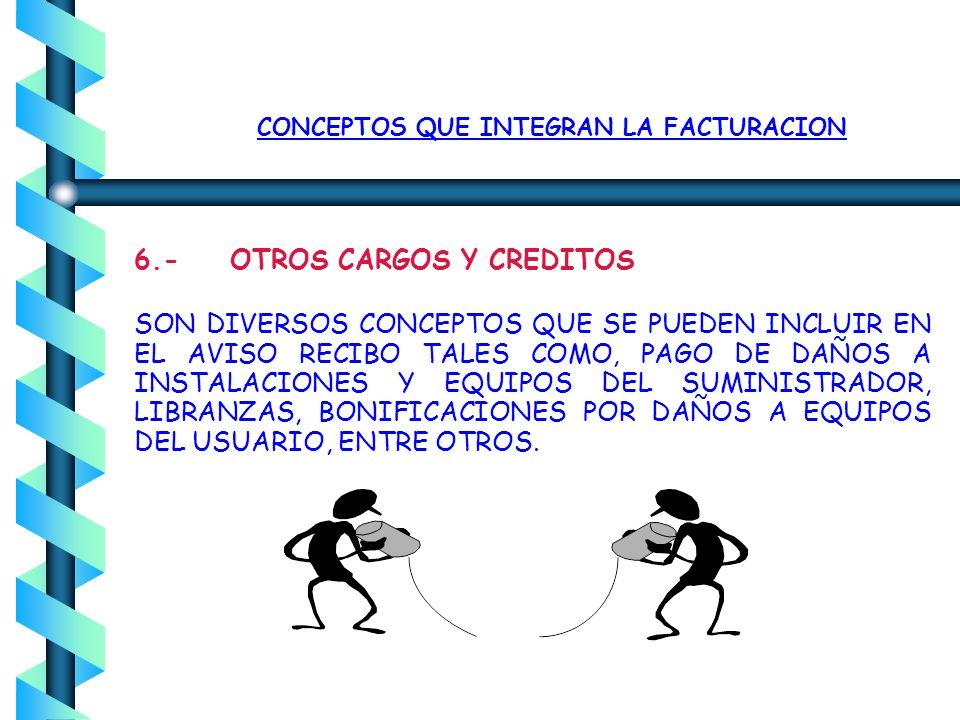 CONCEPTOS QUE INTEGRAN LA FACTURACION 5. DERECHO DE ALUMBRADO PUBLICO (DAP) ESTABLECIDO EN ALGUNAS ENTIDADES FEDERATIVAS, MEDIANTE DECRETOS LOCALES, S