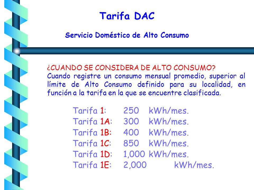Servicio Doméstico Alto Consumo Suministrado en baja tensión Sin límite de demanda Cargos: Por Energía (1 Esc) Cargo fijo Mínimo mensual: 25 kWh Cargo