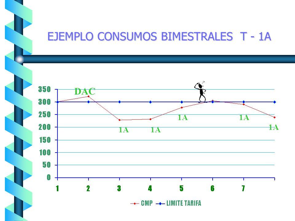 EJEMPLO CONSUMOS BIMESTRALES T-01 1 1 DAC 1 1 1