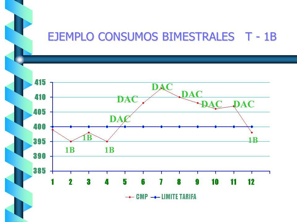 1A DAC EJEMPLO CONSUMOS BIMESTRALES T - 1A 1A
