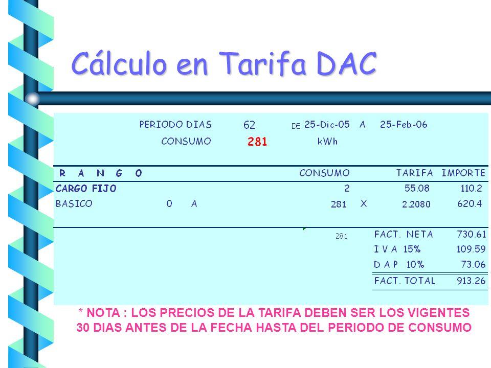 EJEMPLO CONSUMOS BIMESTRALES T - 1B DAC 1B