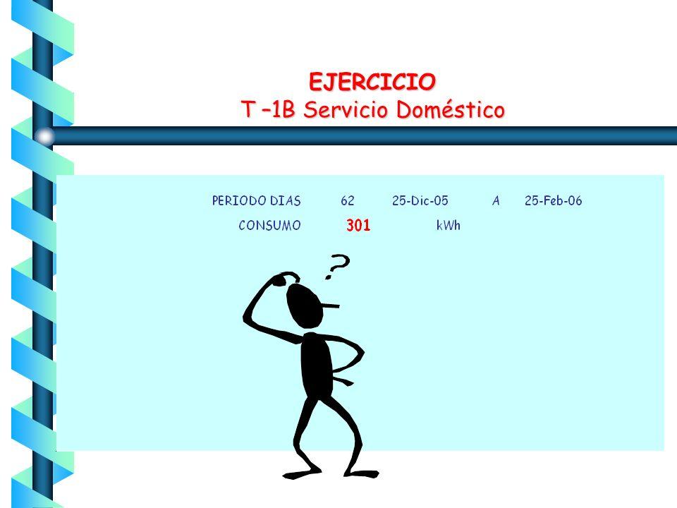 RESULTADO T-1B Servicio Doméstico Consumo Moderado