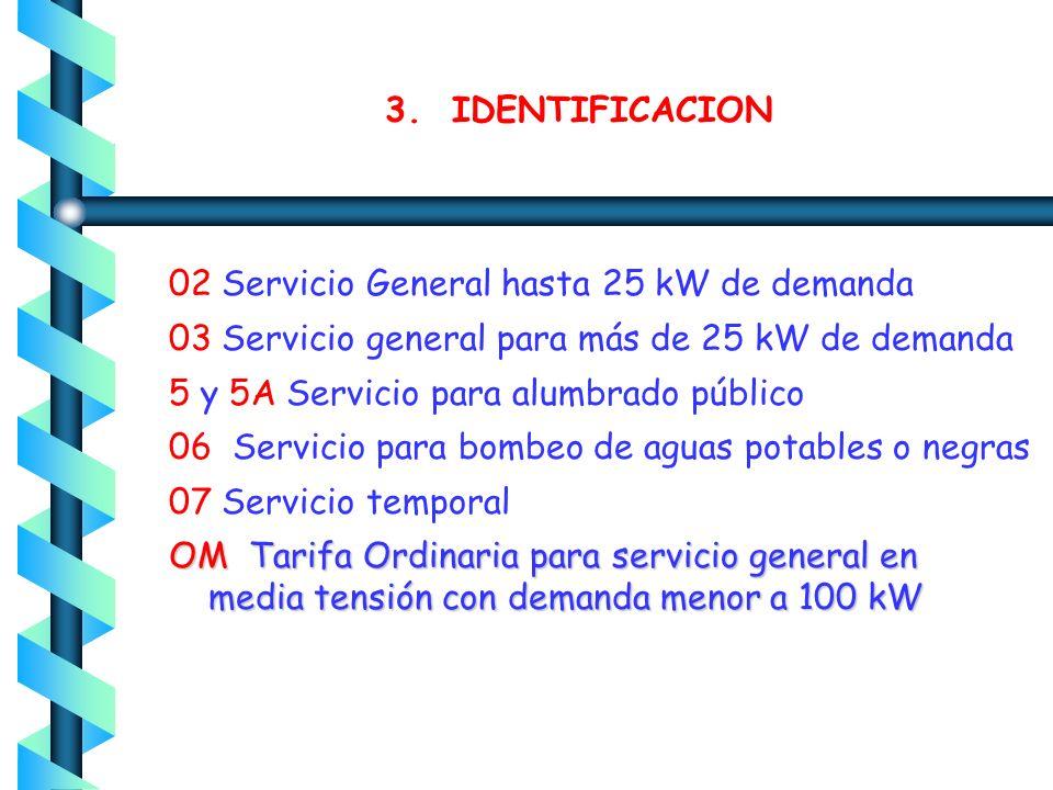 6.- Demanda contratada La Demanda Contratada la fijará inicialmente el usuario, y su valor no será menor de la carga total conectada.