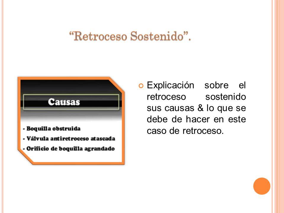 Explicación del retroceso momentáneo & sus posibles causas.